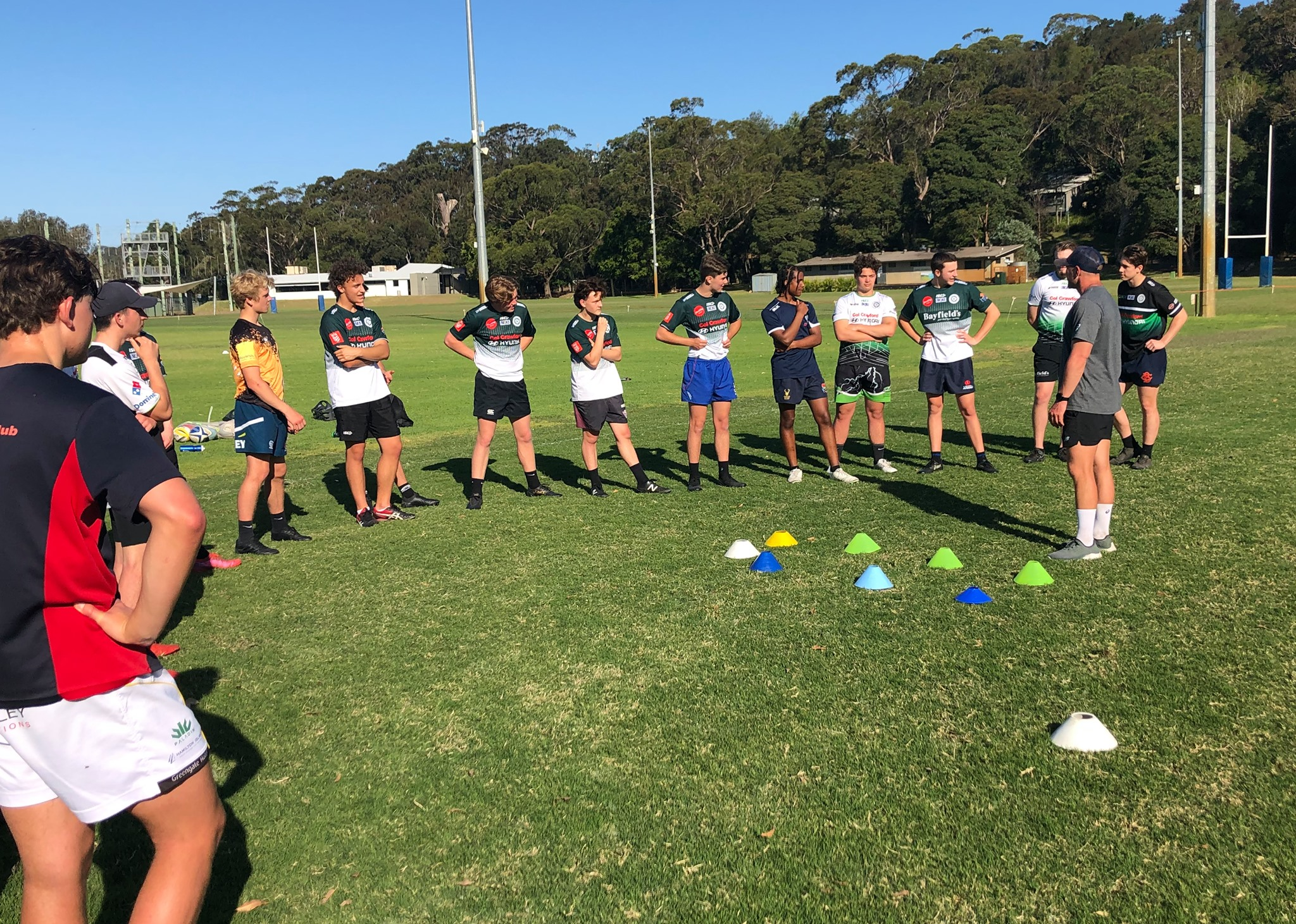 James Stannard taking our U17 squads through their final preparations for the we...