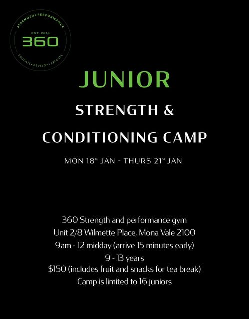 360 JUNIOR Strength and Conditioning Cam