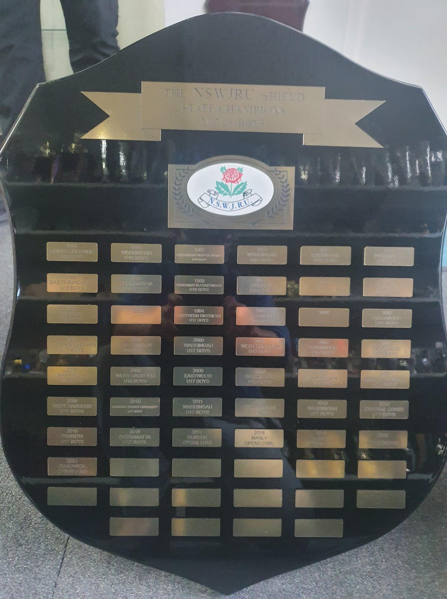 NSWJRU State Championship Trophies (Arch